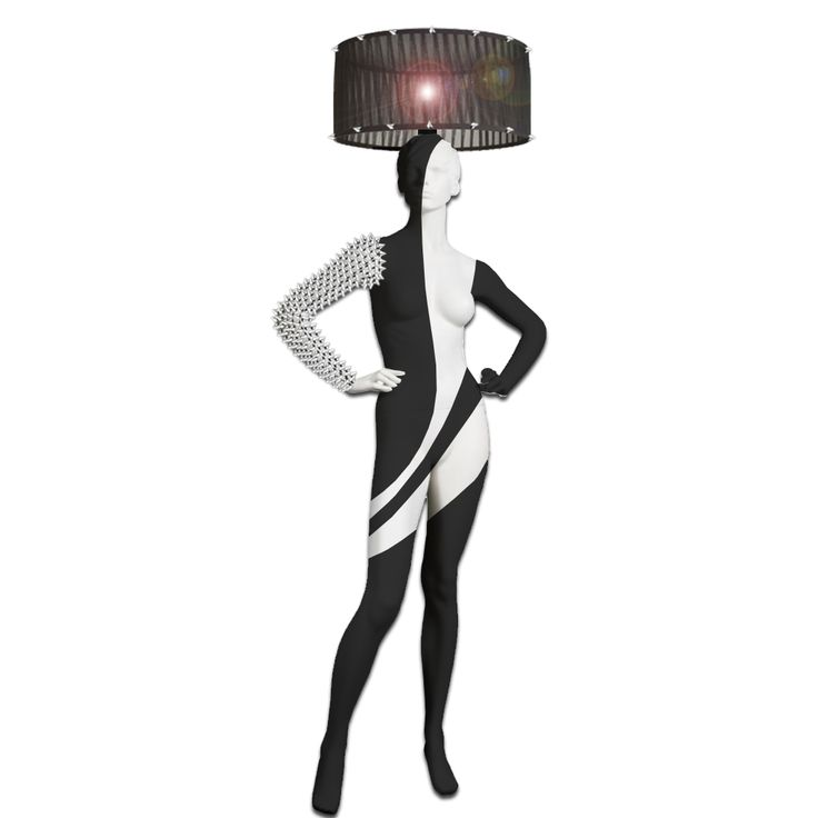 Kinky Mannequin Floor Lamp hand painted with spike studs. Magestic Mannequin Lamps. Home of exclusive handmade life-size mannequins in art. See more new items from Magestic: https://www.magesticmannequins.com/ magestic.mannequins#mannequins #blackandwhitelamp #interiorlighting #floorlamp #mannequinlamp #mannequinsinart #lifesizemannequin #lampshade #windowdisplay #kinkydesign #kinkylamp #bdsmlamp #fetishlamp #bdsm #kinkylifestyle #fetishlifestyle #kinkyart #fetishmodel #fetishism #fetsishart…