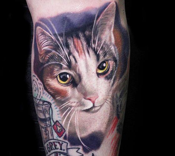 Tattoo Ideas Cats: Cat Tattoo By Luka Lajoie