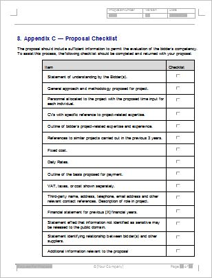 Request For Proposal Template Request For Proposal