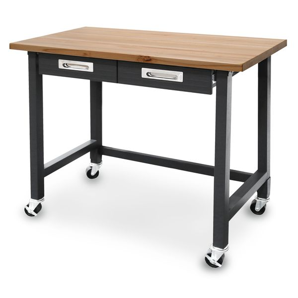 Seville Classics UltraGraphite Commercial Heavy Duty Wheeled Workbench With  Drawers | Studio | Pinterest | Drawers, Commercial And Wheels