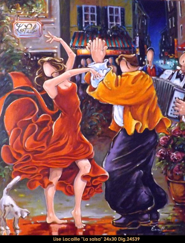 Lise Lacaille original oil painting on canvas #liselacaille #art #artist #canadianartist #quebecartist #fineart #figurativeart #originalpainting #oilpainting #CanadianArt #couple #dancing #multiartltee #balcondart