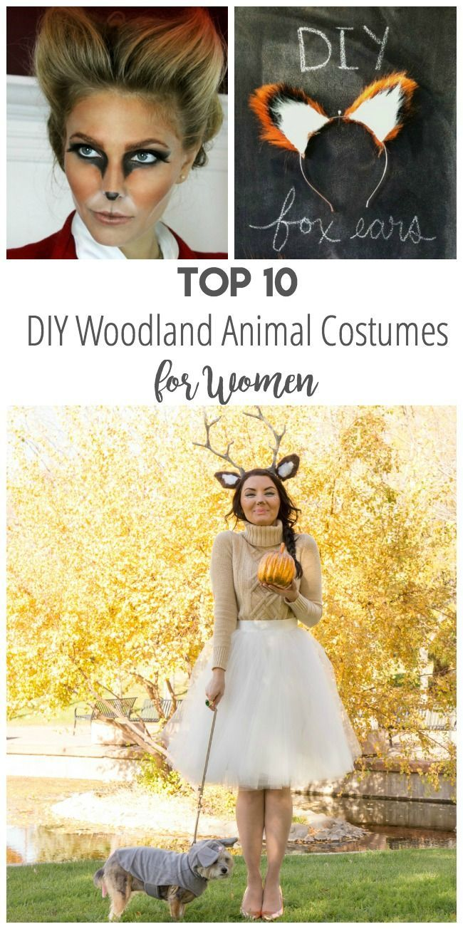 Top 10 DIY Woodland Animal Costumes for Women. #animals #halloween #costume