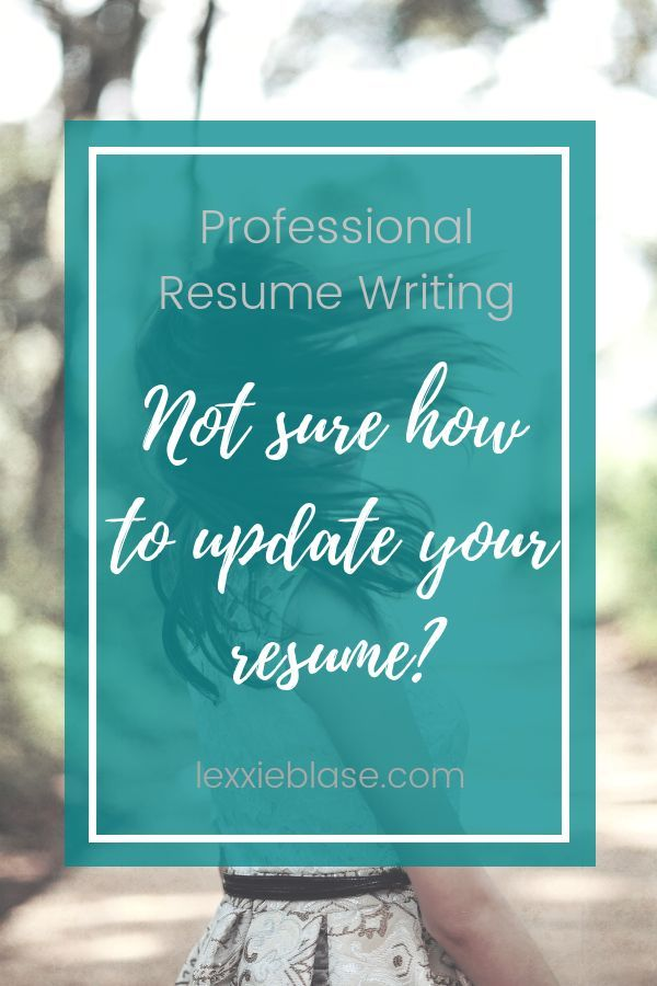 Not sure how to update your resume? Let me help! I offer
