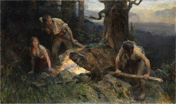 """The Treasure has been found"" (1902) by Zygmunt Ajdukiewicz (Polish,1861 – 1917),oil on canvas, 95 x 162 cm.[source]"