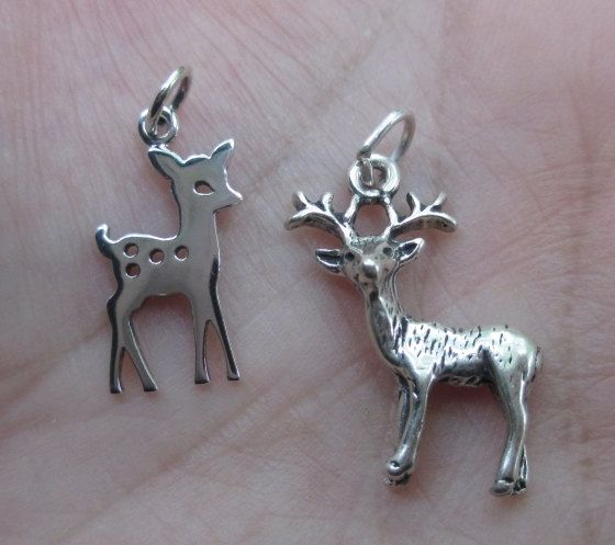 Sterling Silver Fawn or Deer Charmone or two by lisasummers642008
