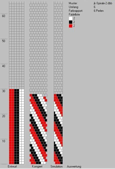 Schlauchketten häkeln - Musterbibliothek: spirale2_jk