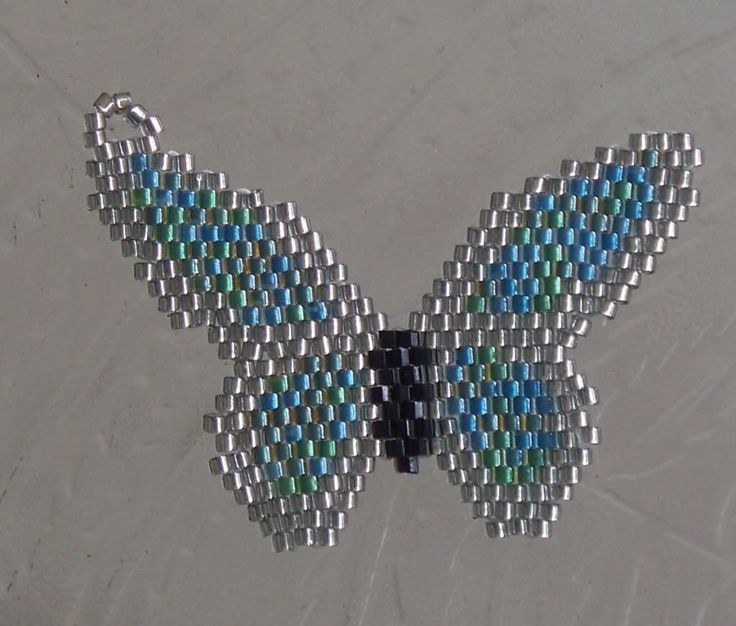Brick Stitch Butterfly Pendant - Beading Daily