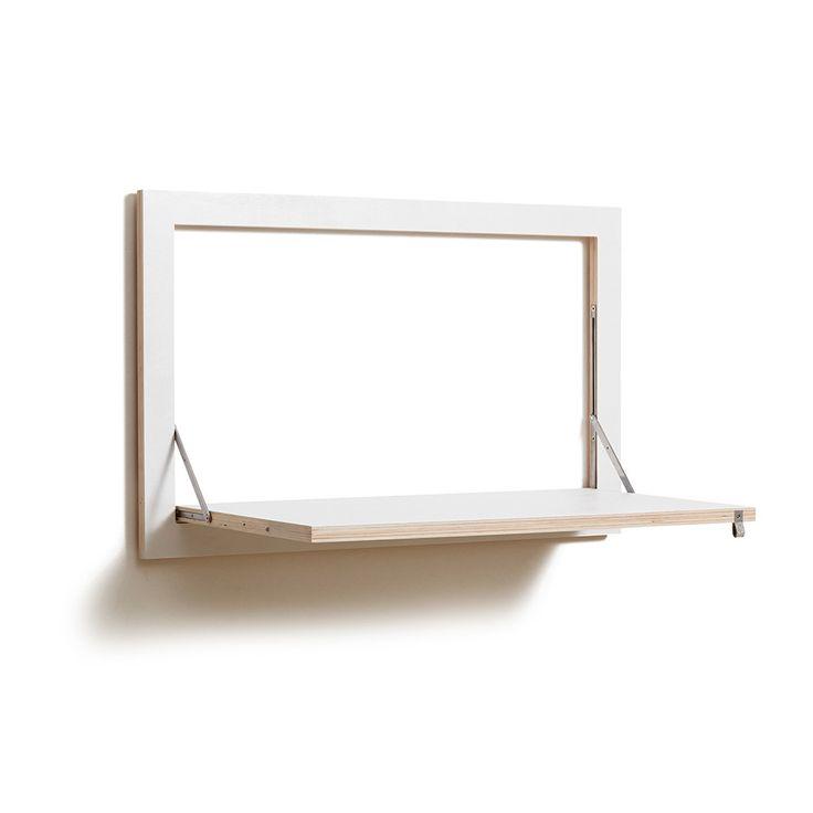 flapps folding wall desk white