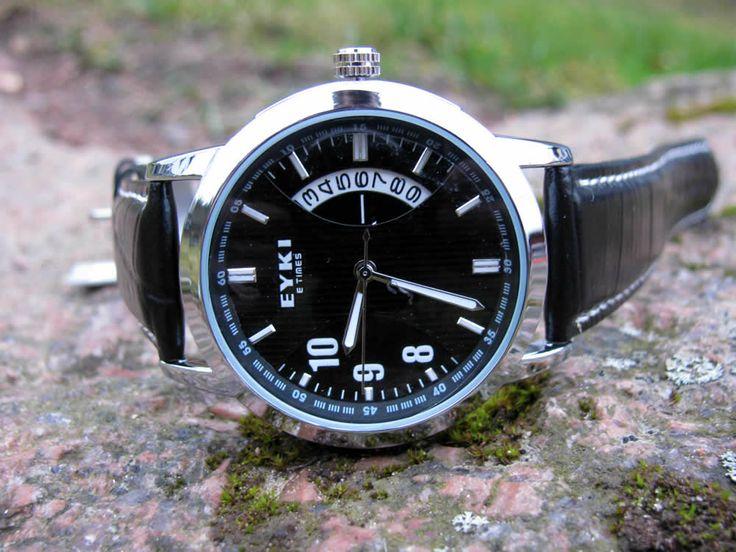 Herrklocka Eyki - E-Times (svart) #eyki #kimio #sportklocka #sportklockor #armbandsur #klocka #klockor #herrklocka #herrklockor #runns #watch #watches #nato #natoband #overfly
