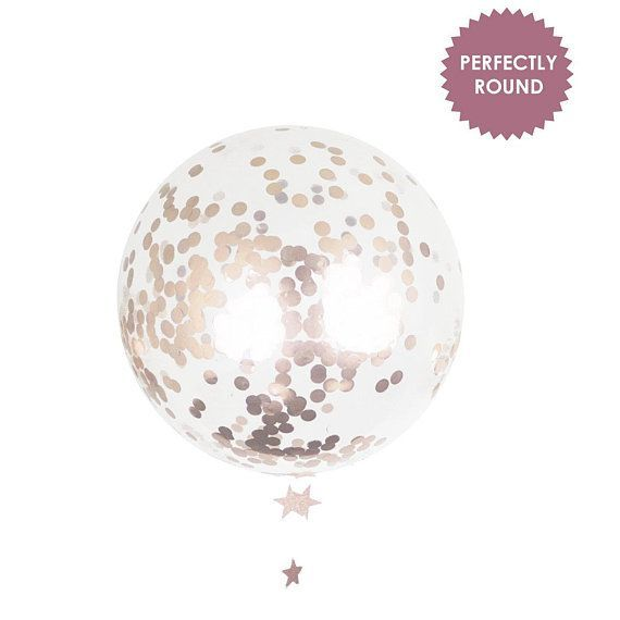 Giant Confetti Balloon – Rose Gold