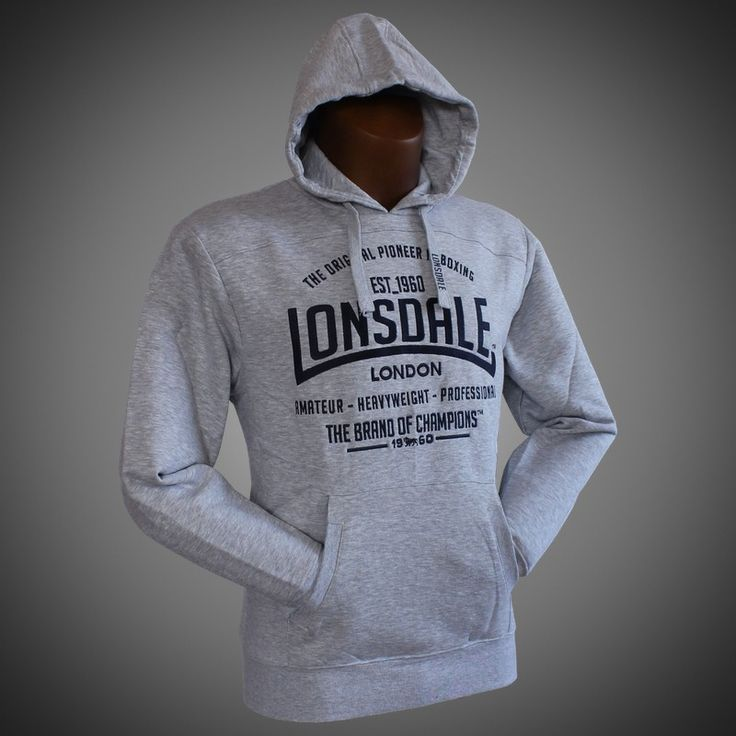 Mikina Lonsdale Brand of Champions grey