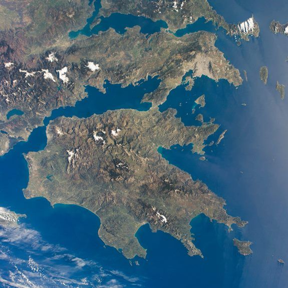 The Peloponnese as seen from the ISS