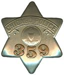 ChicagoCop.com - Chicago Police Department Badges - Stars & Shields: 1905 Series Star