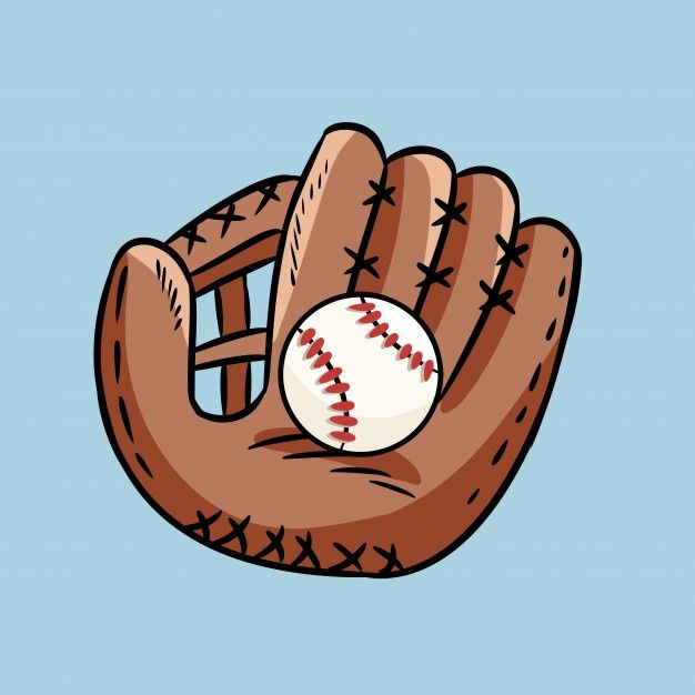 Hand Drawn Doodle Of Baseball Glove Holding A Ball Cartoon Style Drawing For Posters Decoration And Print In 2021 Cartoon Style Drawing How To Draw Hands Doodle Art Drawing