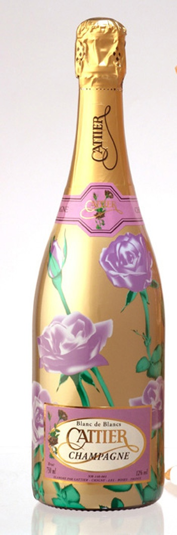 I don't like this design at all. The roses look very awkward on the bottle and the color of them is too pastelly especially on the gold background. It looks very corny. I would not buy this champagne