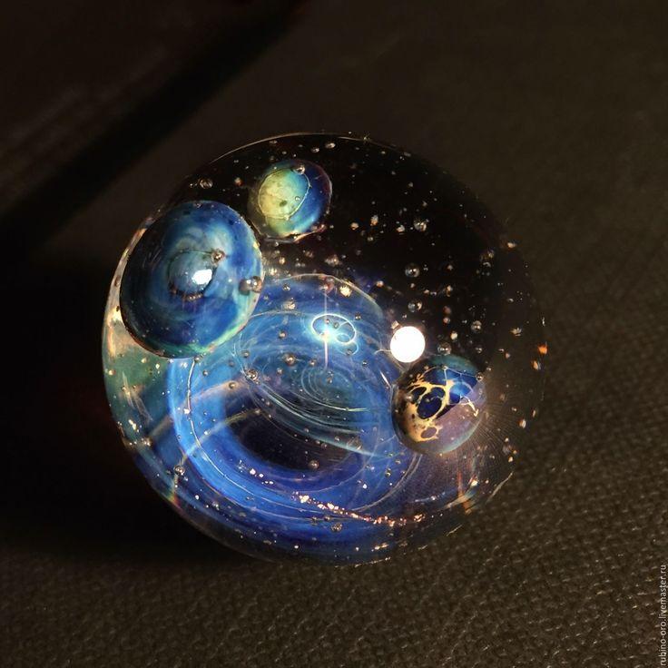 Купить Через Вселенную...VIP Колье.Резерв - лемпворк, космос, галактика, стекло, авторский кулон