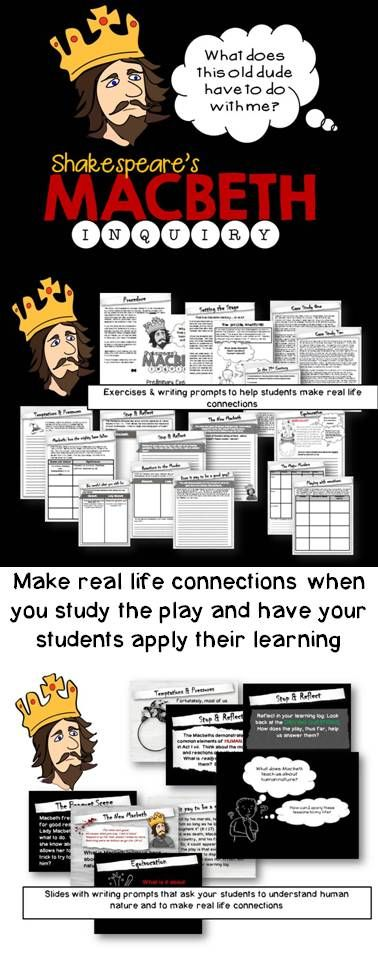 Make real life connections with Macbeth