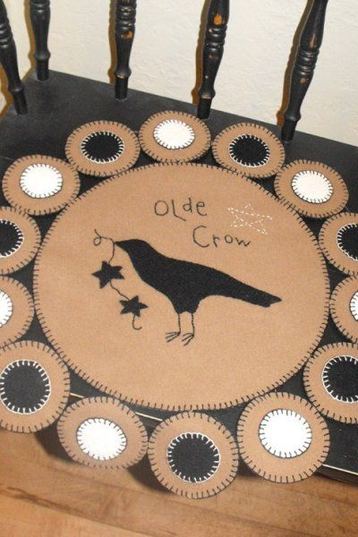 Free Primitive Penny Rug Patterns | PatternMart.com ::. PatternMart: Olde Crow Penny Rug Pattern