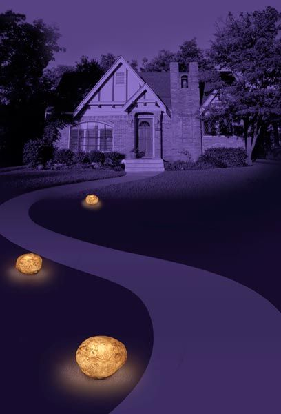 Glow stones - for the balcony or the front steps