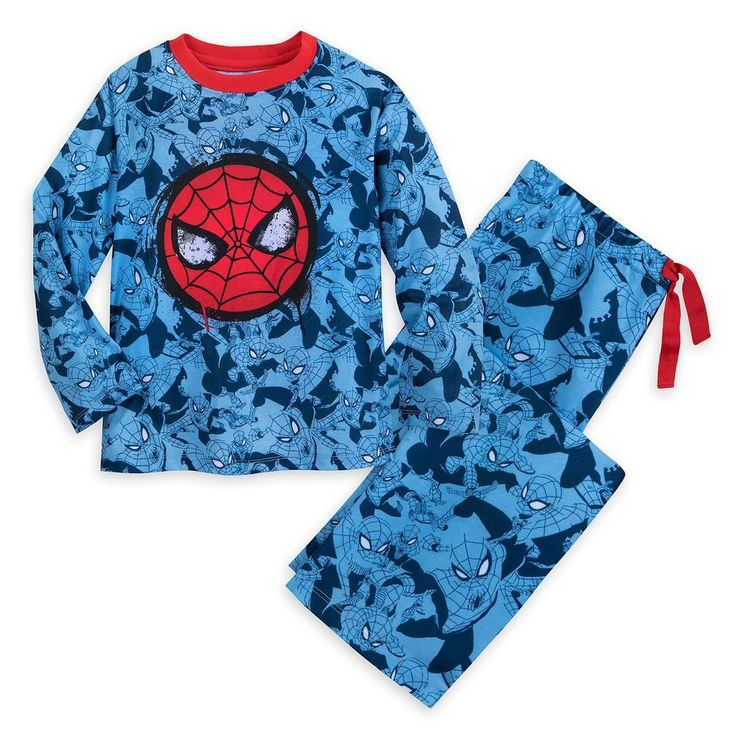 Spiderman Long Sleeve Pajamas for Boys- Size 9/10  Disney/Marvel #DisneyMarvel #PajamaSets