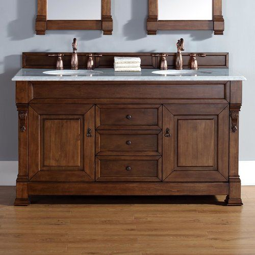 Found It At Joss Main Bedrock 60 Double Country Oak Bathroom Vanity Set With Drawers