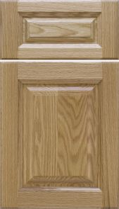 Natural Red Oak Door with a Step Crown Raised Panel [ Inside: Ogee / Outside: Cove Profiles]  M and J Woodcrafts - Your Wholesale Cabinet Door Manufacturers