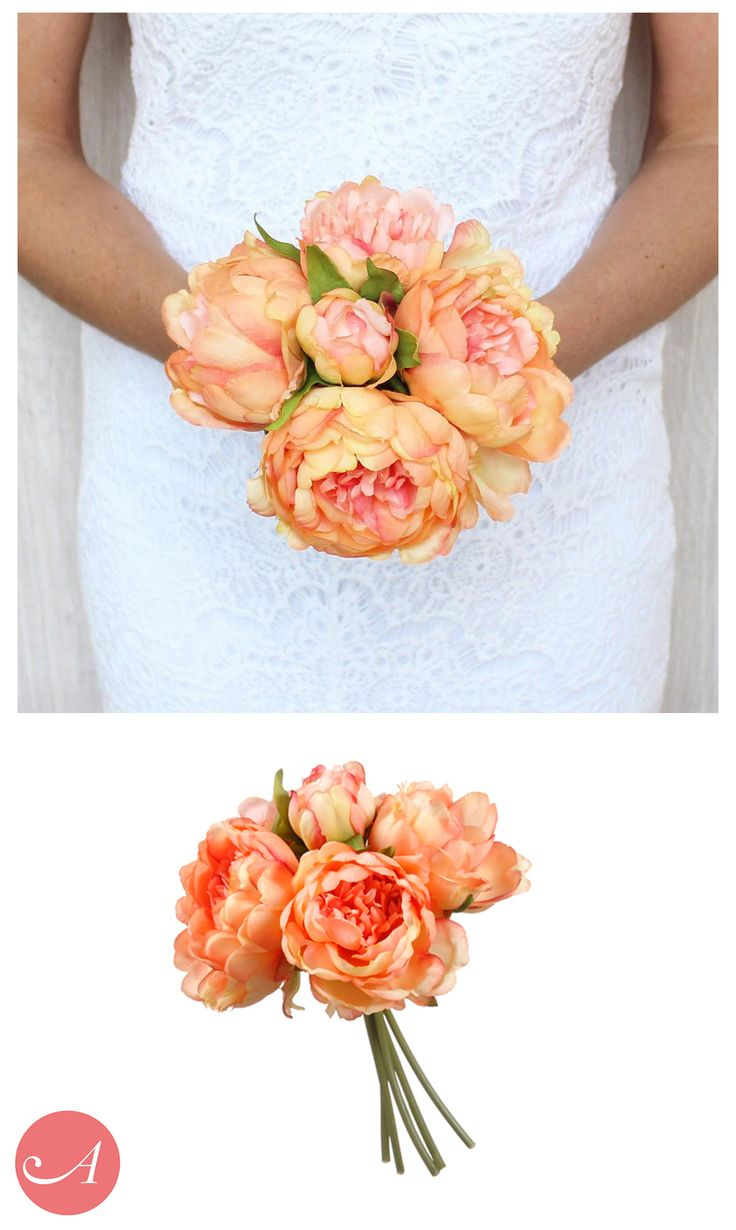 267 best Peach, Pink, and Coral Wedding Flowers images on Pinterest ...