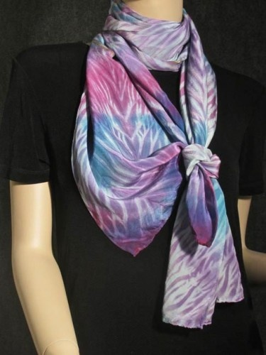 Silk Square Scarf - alcohol ink summer water by VIDA VIDA 8YxfEId8NS