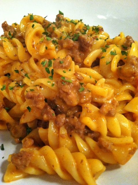 Homemade lasagna hamburger helper style recipe