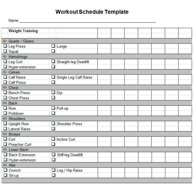 Daily Workout Planner Printable Template Fitness Planner