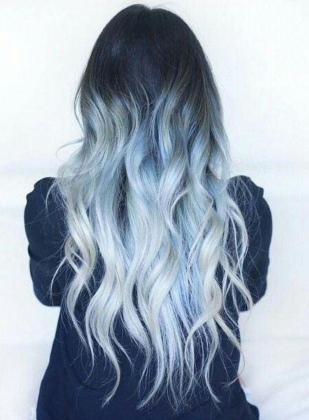 Pastell-Ombre-Haare