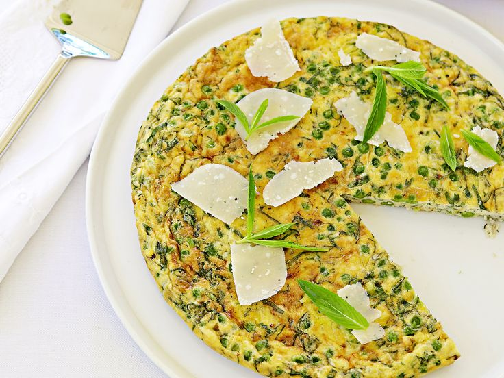 Fresh, flavoursome and easy-to-make, this tasty pea, mint and parmesan frittata is the perfect vegetarian dish to serve up to a hungry family.