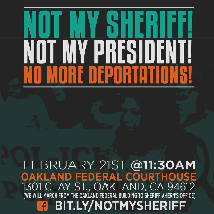 Bay Area organizations demand:  Alameda County Sheriff Ahern rescind his policy to participate in mass deportations! Sheriff Ahern is not aligned with the community and the rest of Alameda County elected officials who have already stand on the side of the community to reject ICE entanglement and affirm Due Process for all regardless of immigration status!