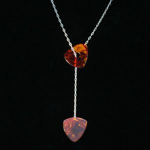 Guitar Pick Lariat Necklace perfect idea for picks I've saved from concerts!