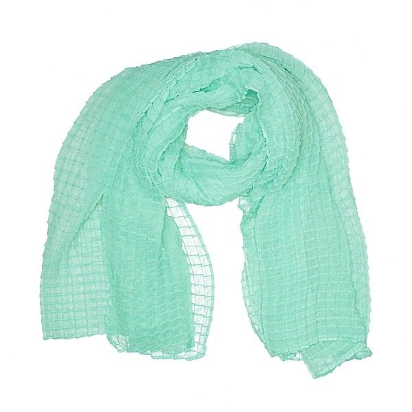 Pier 1 Imports Scarf ($9.99) ❤ liked on Polyvore featuring accessories, scarves, green, green scarves, pier 1 imports and green shawl