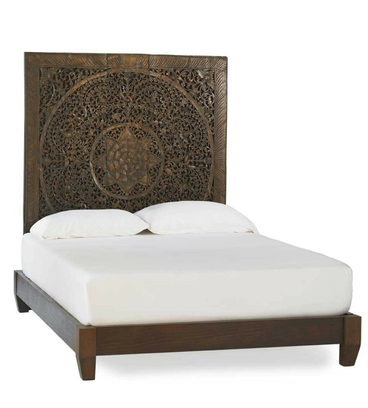 Hand Carved Bed: You Can't Hide Your Bed In A Studio Apartment. A Big, Bold