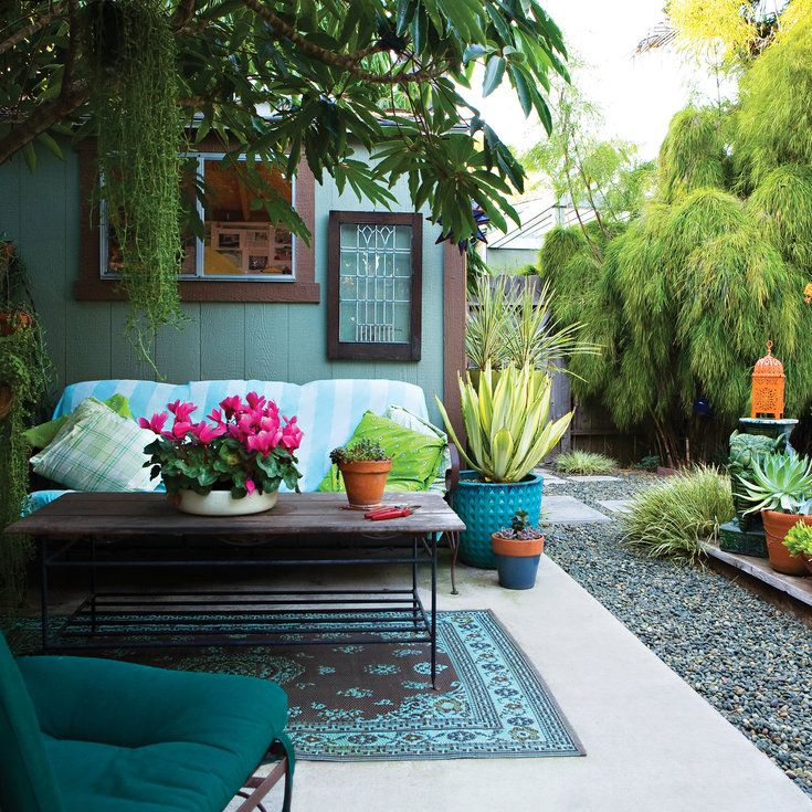 25 best ideas about small yard design on pinterest for Outside ideas landscaping