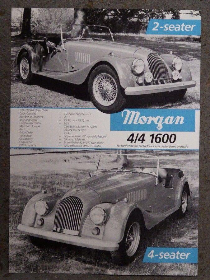 MORGAN PLUS 8 4/4 Original 1980s CAR BROCHURE Old Car Brochures