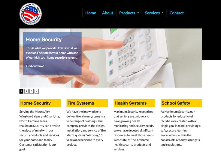 This is an ongoing redesign of a Mount Airy home/business alarm company. They do great work and I use them myself.