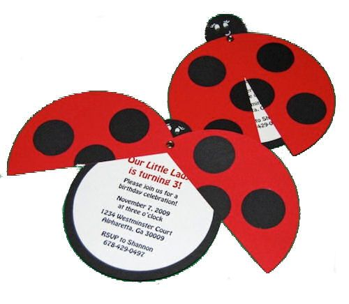 Lady Bug Birthday invites