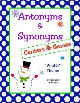 This 79 page download will be a wonderful addition to any study on Antonyms and Synonyms! In it, you'll find materials for centers, manipulative bulletin boards and 2 games: Go Fish and Concentration. Antonyms contained within the unit:all/none, big/little, day/night, fake/real, best/worst, give/take, in/out, stop/go, fast/slow, wet/dry, up/down, near/far, loud/quiet, good/bad, hot/cold, give/take, pull/push, young/old, cloudy/sunny, add/subtract, answer/question, begin/end, create/destroy…
