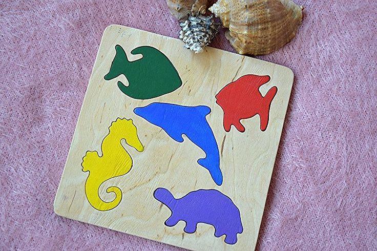 Hölzernes Puzzlespiel Baby Spielzeug Montessori pädagogisches Spielwaren Ozean Meer Puzzle spiel Kleinkind holz Baby Geschenk Geduldspiel organisches umweltfreundliches Holz Kindspielzeug Stapel spielzeug Lern spielzeug jigsaw Puzzle