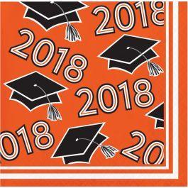 2018 orange beverage napkins 36ct. |Wally's Party Factory #2018 #Orange #Beverage #Napkins