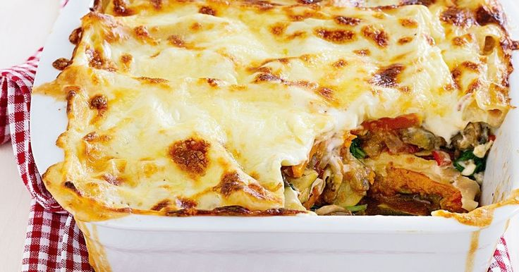 Packed with veggies, this lasagne makes a hearty weeknight dinner.