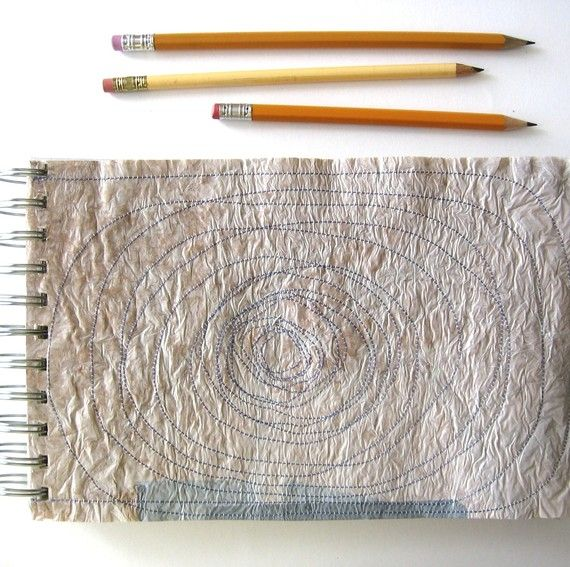 Recycled Notebook Journal with Fused Plastic Bag by laurawennstrom