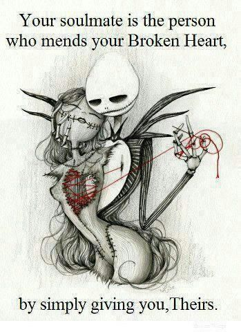 Love this picture of Jack and Sally.