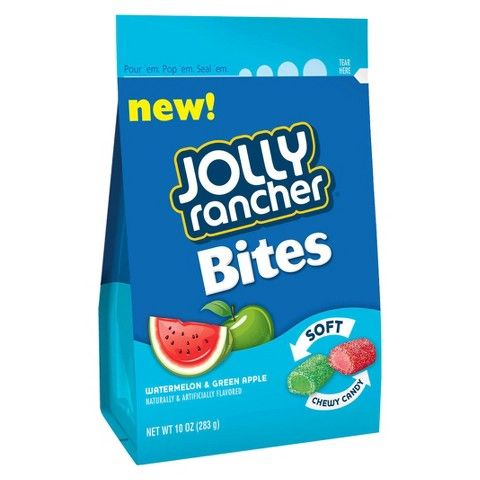 Jolly Rancher Bites Watermelon & Green Apple Soft Chewy Candy 10 oz