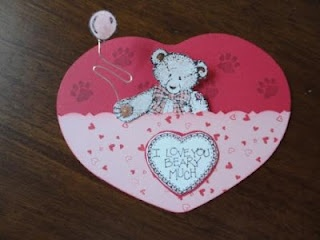 Teddy Bear Valentine Card My Handmade Cards Non Stampin