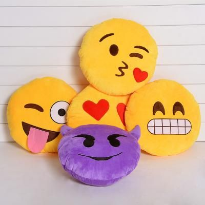 2014 новой мягкой смайлик смайлик желтые круглые подушки подушки мягкие плюшевые игрушки куклы | cndirect.com