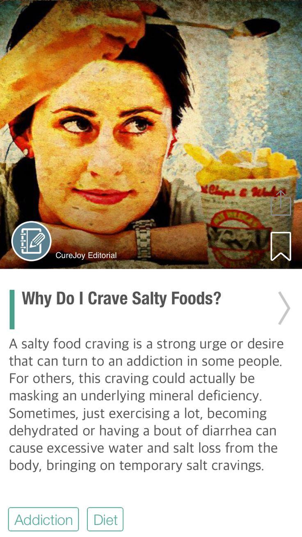 Why Do I Crave Salty Foods? - via @CureJoy